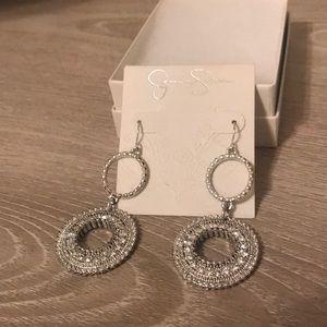 Jessica Simpson silver drop earrings